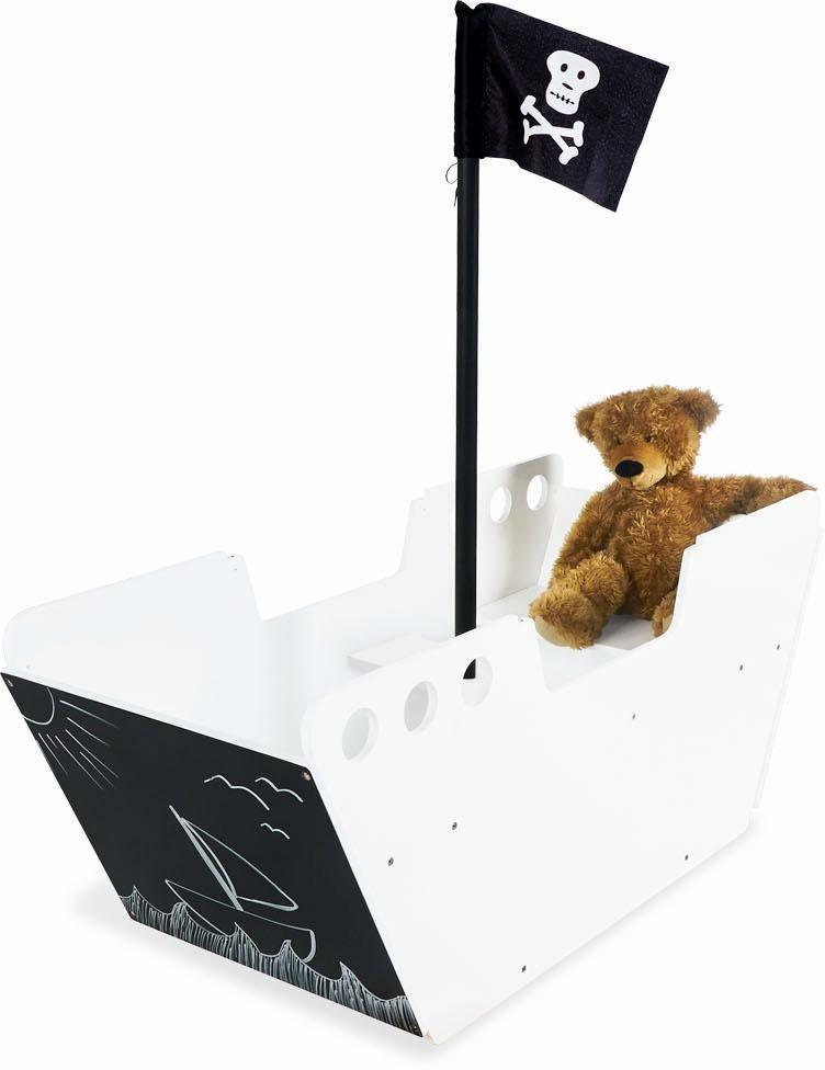 Pinolino Kindersitzgarnitur, Tafel und Aufbewahrungskiste »Spielboot Hoppetosse«