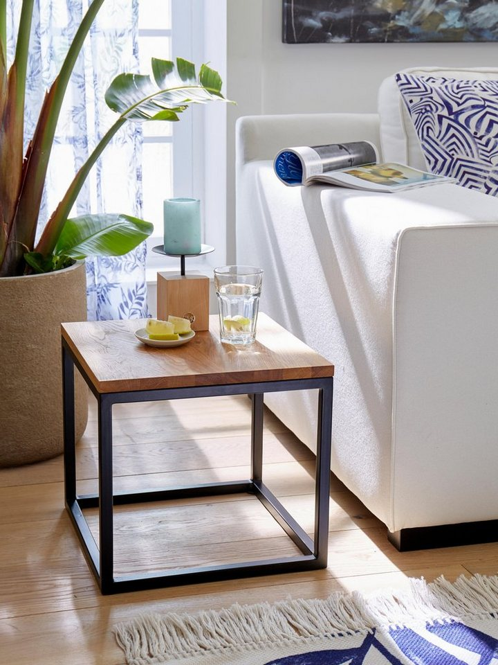 gmk home living couchtisch voorst aus massiver eiche und metallgestell online kaufen otto. Black Bedroom Furniture Sets. Home Design Ideas