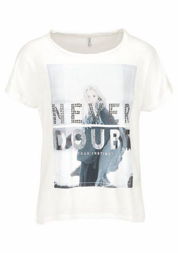 Only T-Shirt REVA, mit Apllikationen
