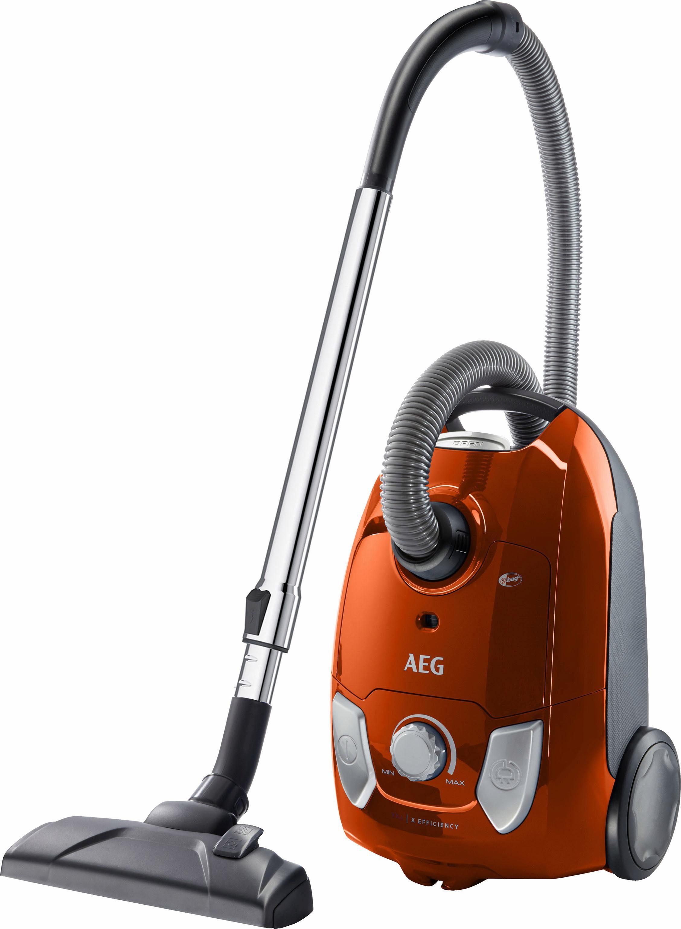 AEG Bodenstaubsauger VX4-1-OR, 650 Watt, mit Beutel, Einfaches und gründliches Reinigen