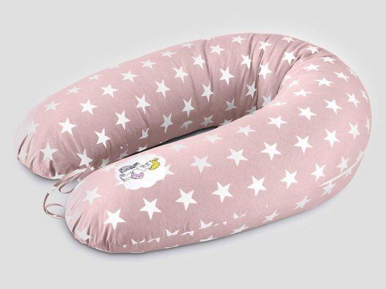 SEI Design Stillkissen »Vintage Sterne pastel-rosa«, mit hochwertiger Stickerei mit niedlichen Vintage-Motiven