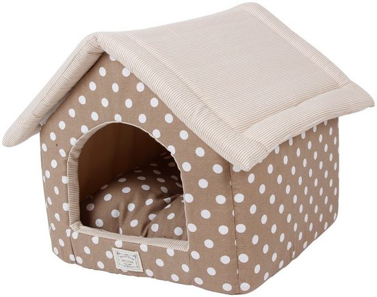 HEIM Hundehöhle und Katzenhöhle »Dots«, beige, BxT: 48x58 cm