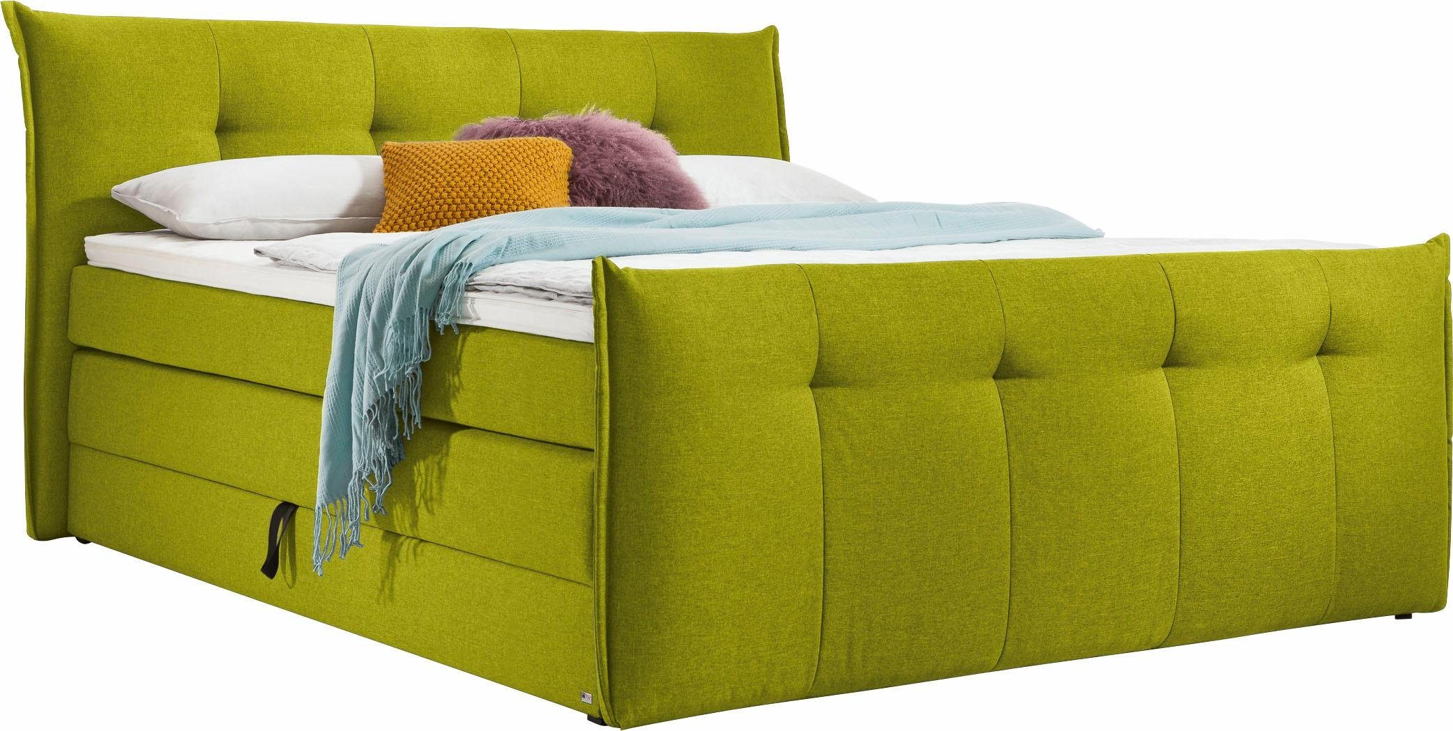 Musterring Boxspringbett Florida in lime