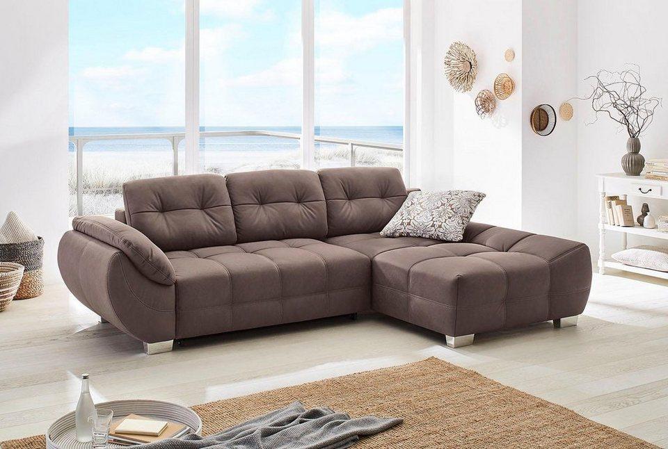 polsterecke mit bettfunktion und bettkasten kaufen otto. Black Bedroom Furniture Sets. Home Design Ideas