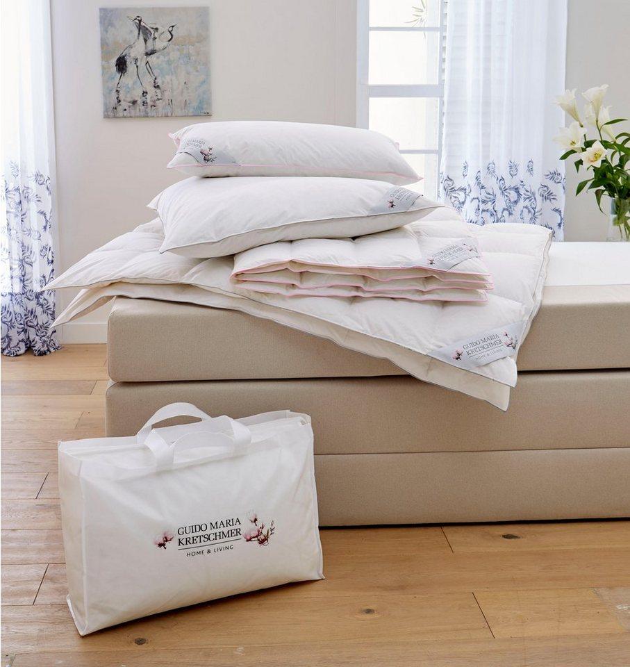 3 kammer kopfkissen magnolia guido maria kretschmer home living f llung g nsedaunen. Black Bedroom Furniture Sets. Home Design Ideas