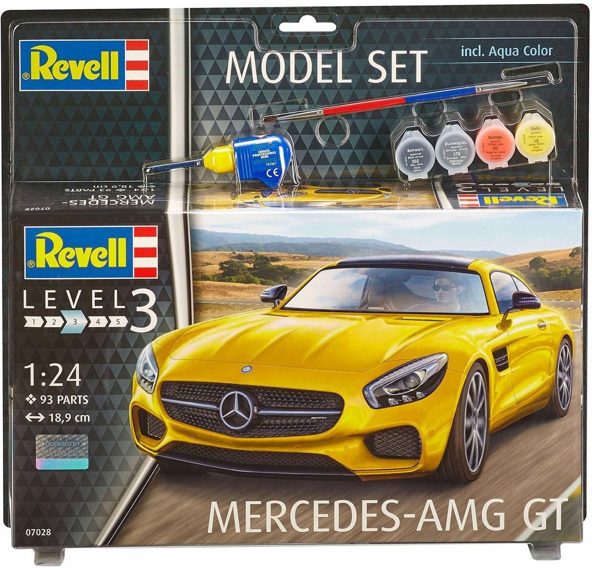 Revell Modellbausatz Auto mit Zubehör, »Model Set, Mercedes-AMG GT«