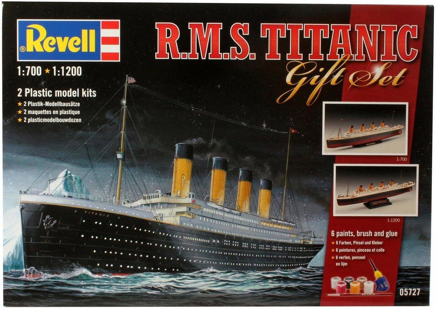Revell Modellbausatz 2 Schiffe mit Zubehör, »Geschenkset Titanic«