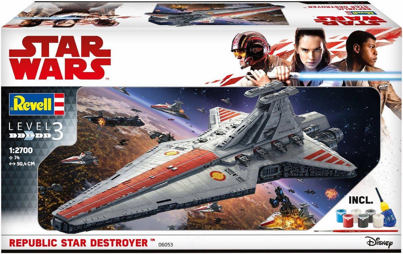 Revell Modellbausatz Raumschiff mit Zubehör, »Disney Star Wars Republic Star Destroyer«