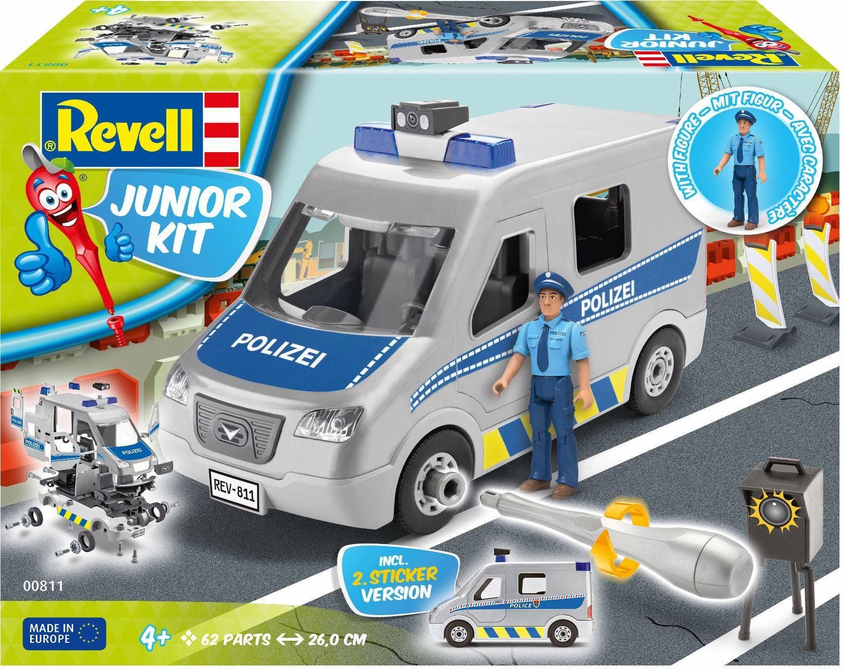Revell Modellbausatz Auto, »Junior Kit Polizei Fahrzeug mit Figur«