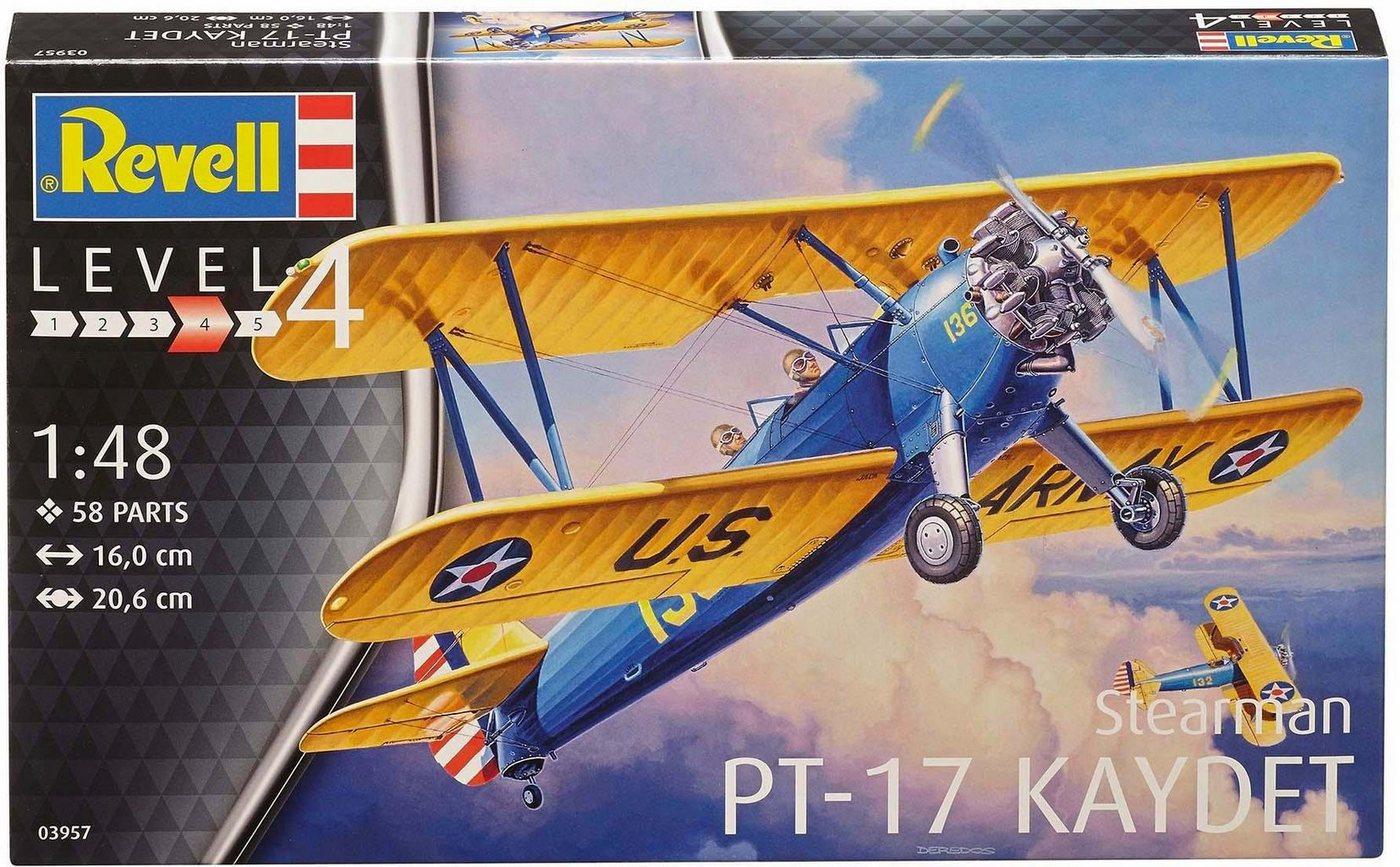 Revell Modellbausatz Flugzeug mit Zubehör, »Model Set, Stearman PT-17 Kaydet«