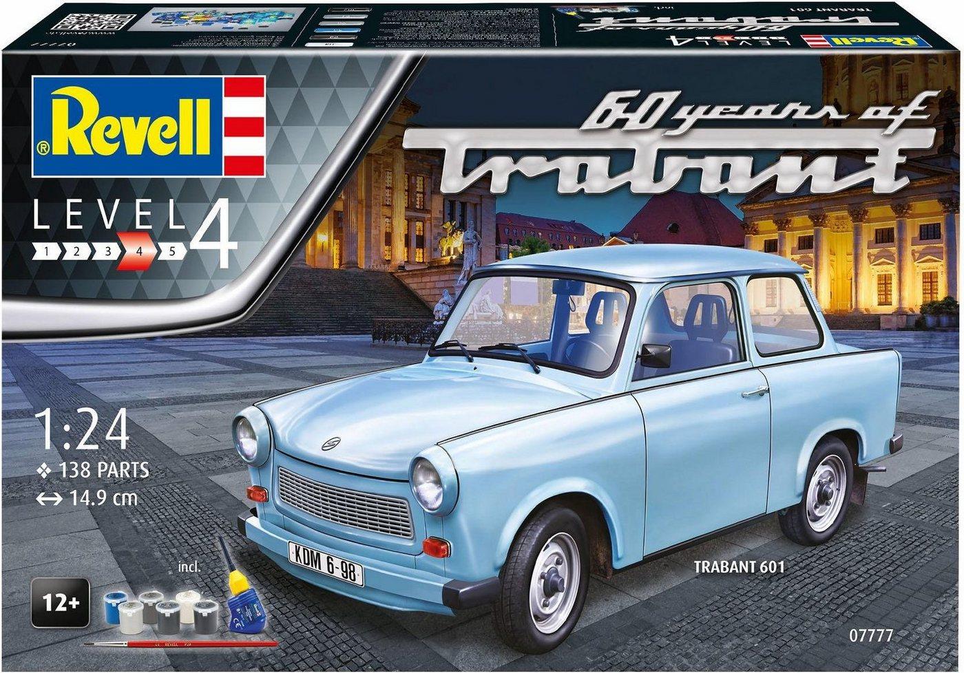 Revell Modellbausatz Auto mit Zubehör, »Trabant 601S, 60-Jahre«