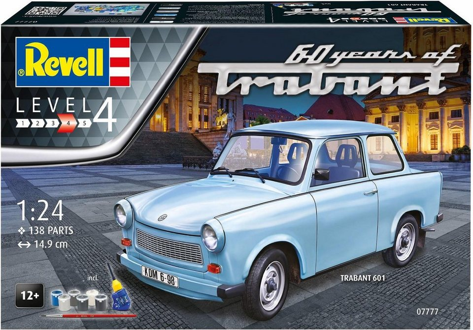 revell modellbausatz trabant 601s 60 jahre ma stab 1. Black Bedroom Furniture Sets. Home Design Ideas