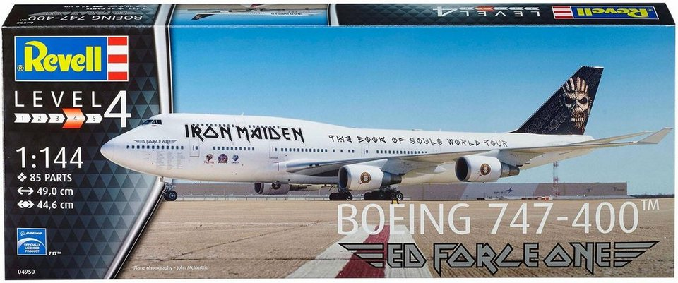 revell modellbausatz flugzeug boeing 747 400 iron maiden online kaufen otto. Black Bedroom Furniture Sets. Home Design Ideas