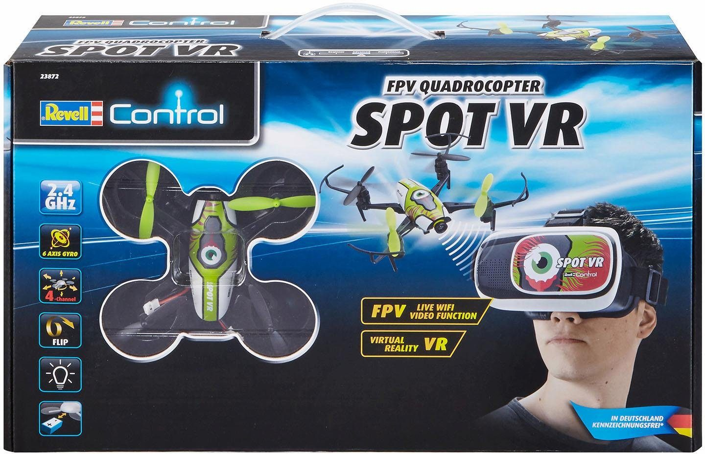 Revell RC Quadrocopter mit Kamera für Virtual Reality, »Revell® control, Spot VR, 2,4 GHz«