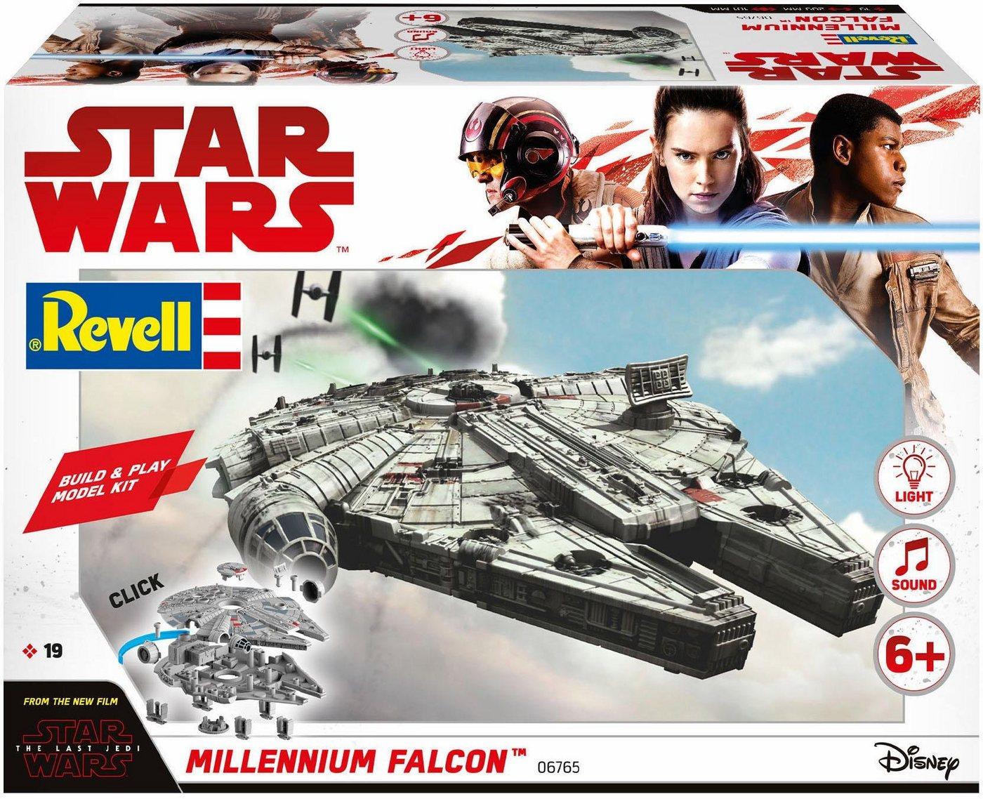 Revell Modellbausatz Raumschiff, »Disney Star Wars Millennium Falcon (Build&Play)«