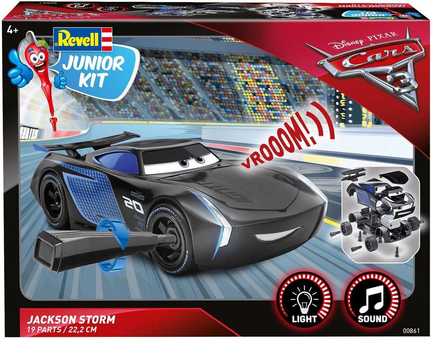 Revell Modellbausatz Auto mit Licht und Sound, »Junior Kit Disney Cars Jackson Storm«