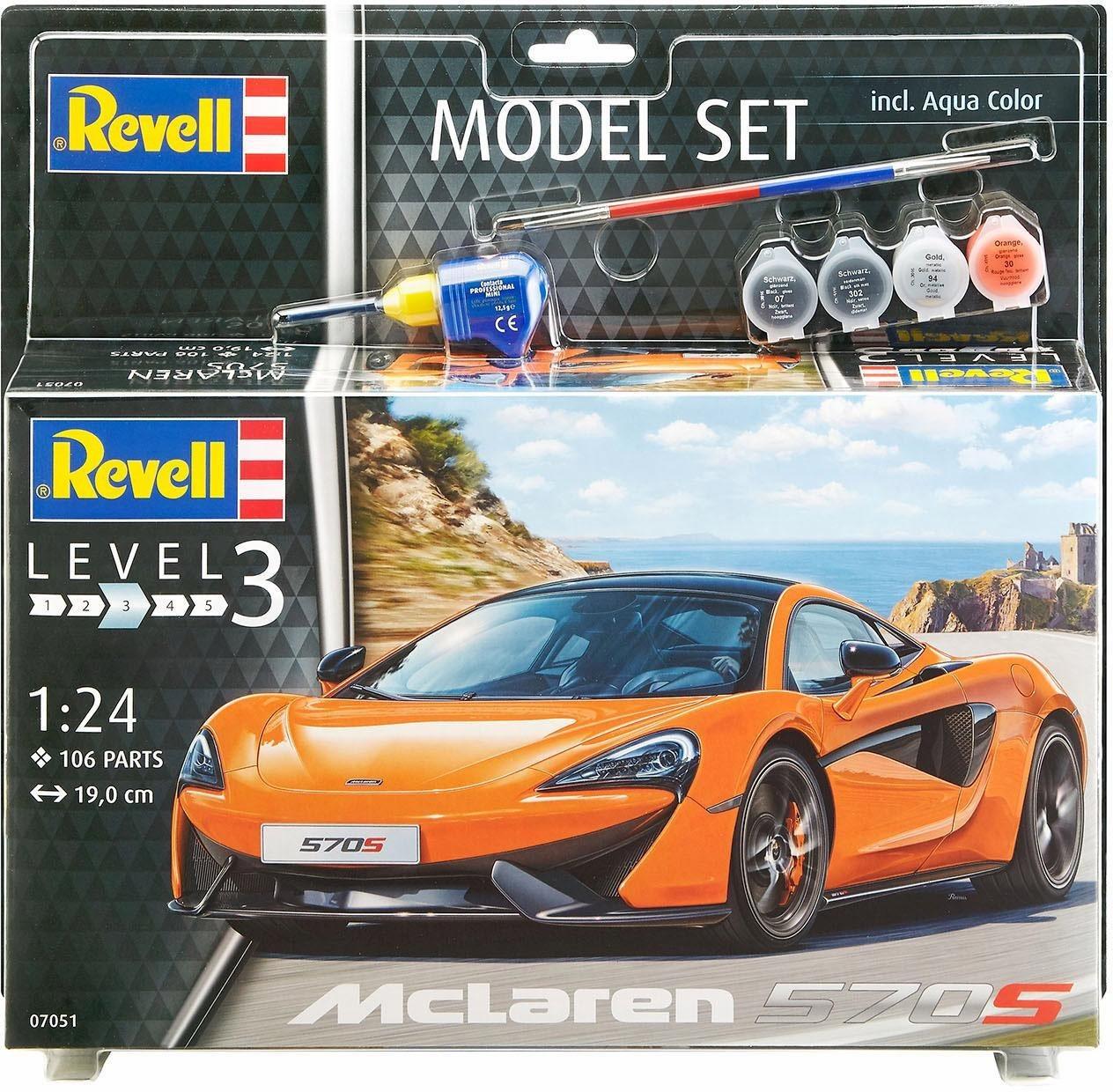 Revell Modellbausatz Auto mit Zubehör, »Model Set, McLaren 570S«