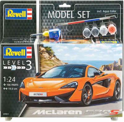 Revell® Modellbausatz »Model Set, McLaren 570S«, Maßstab 1:24, (Set), Made in Europe