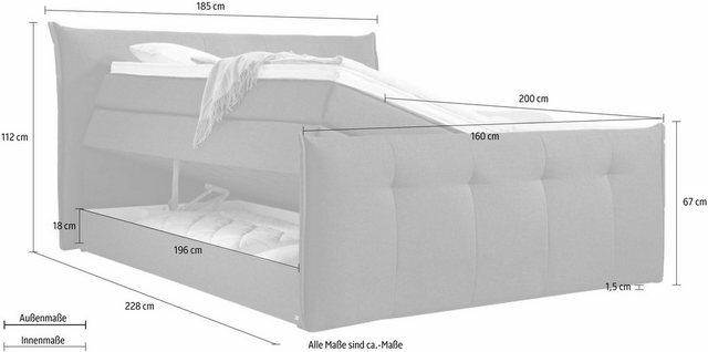 set one by Musterring Boxspringbett »Florida«| mit Bettkasten| in 5 Liegekomfortvarianten | Schlafzimmer > Betten > Boxspringbetten | set one by Musterring