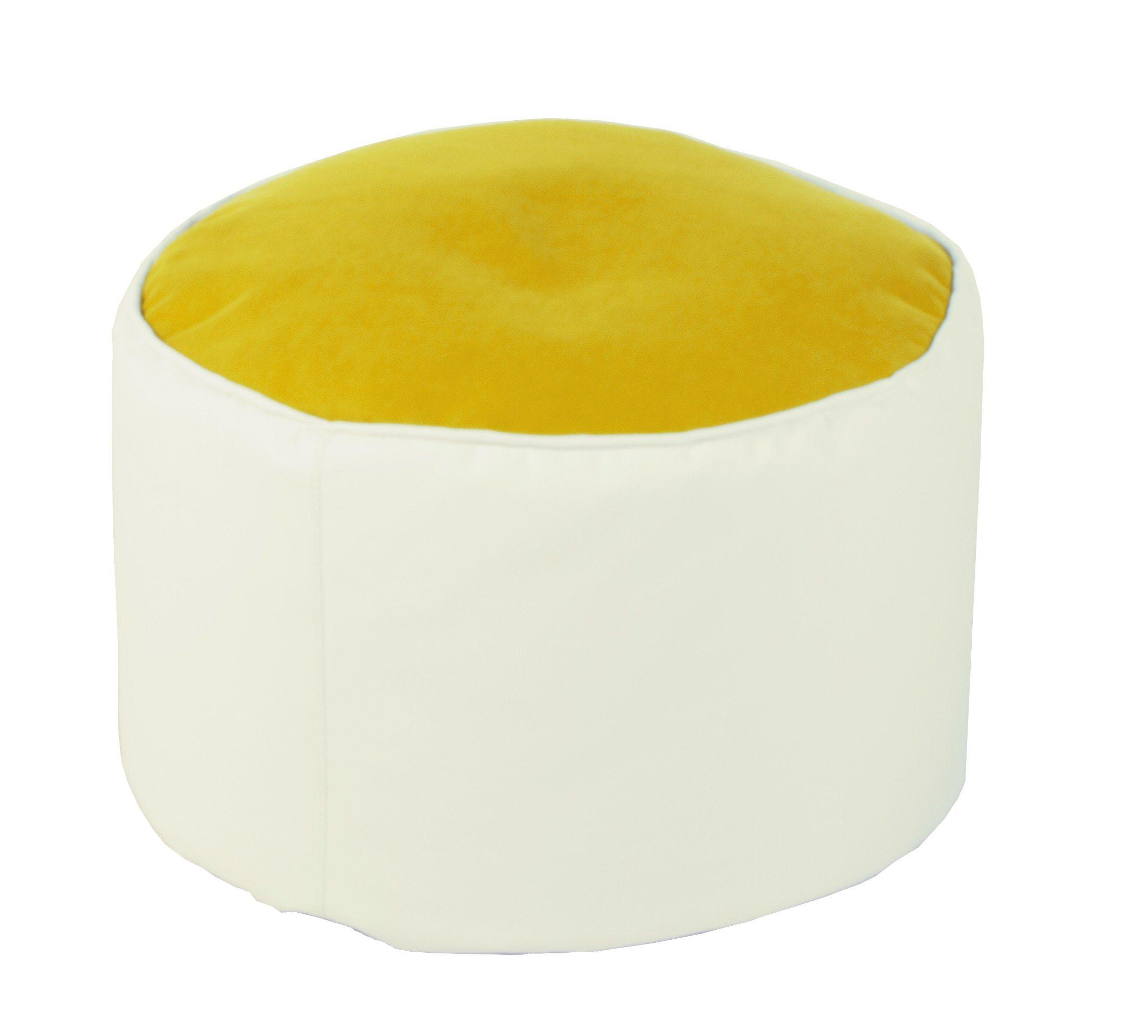 Kasper-Wohndesign Sitzsack Pouf weiß verschiedene Farben »LOTUS GENUA« | Wohnzimmer > Sessel > Sitzsaecke | Weiß | Polyester - Leder | Kasper-Wohndesign