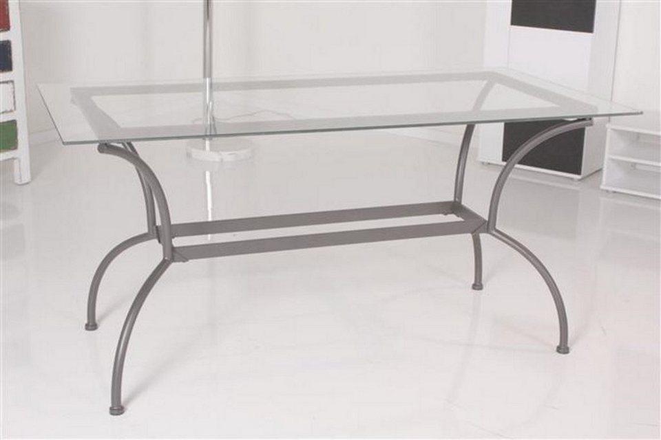 Kasper wohndesign tisch esstisch glastisch 150x74cm glas - Otto glastisch ...