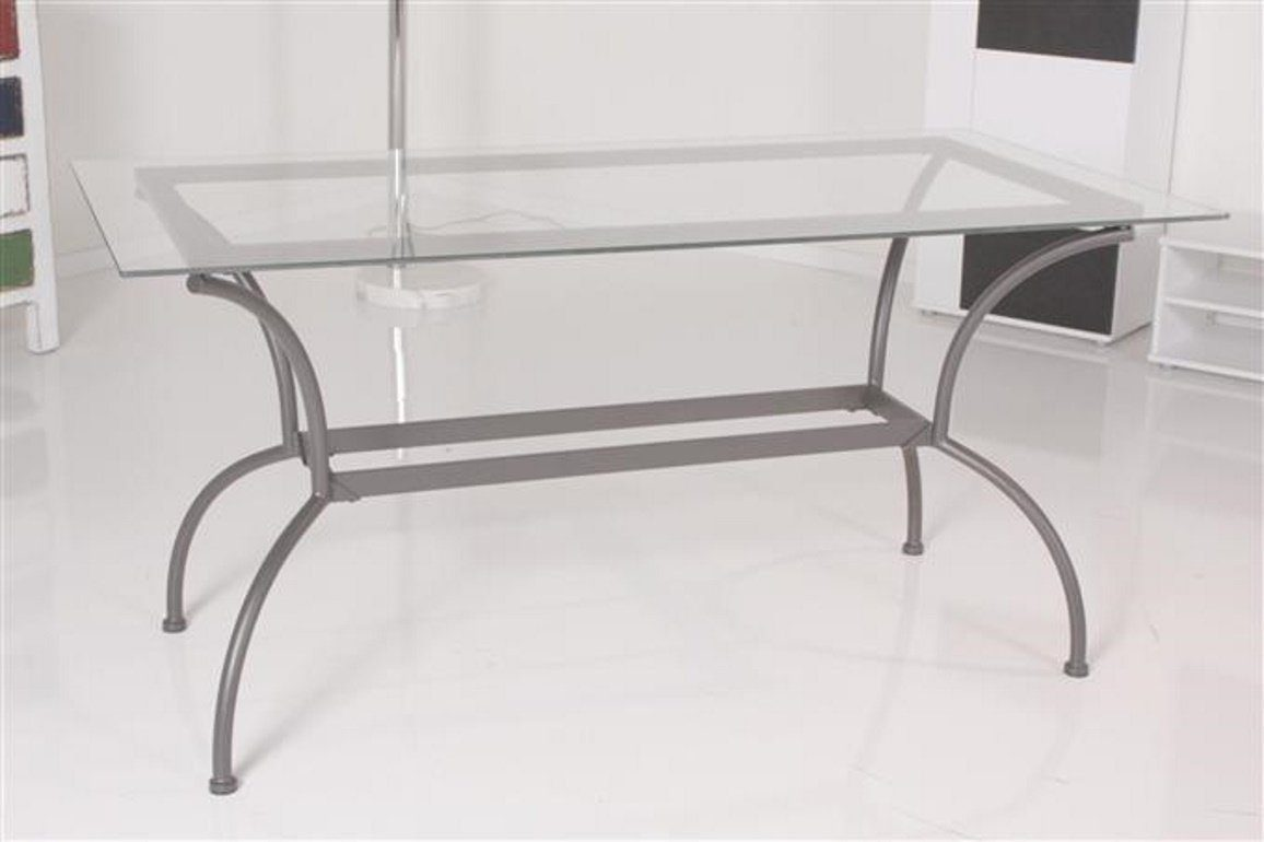 Kasper-Wohndesign Tisch Esstisch Glastisch 150x74cm Glas Metall