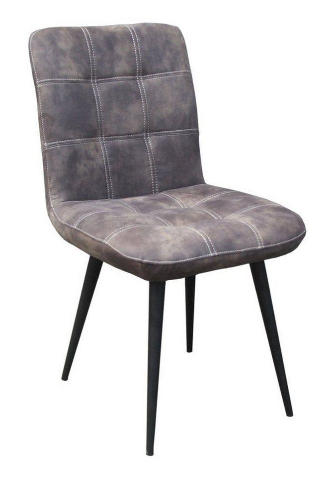 Kasper-Wohndesign Esszimmerstuhl Kunstleder versch. Farben »Senta« | Küche und Esszimmer > Stühle und Hocker > Esszimmerstühle | Grau | Kasper-Wohndesign