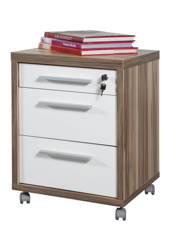 composad rollcontainer walnuss baltimore und hochglanz weiss stampa online kaufen otto. Black Bedroom Furniture Sets. Home Design Ideas