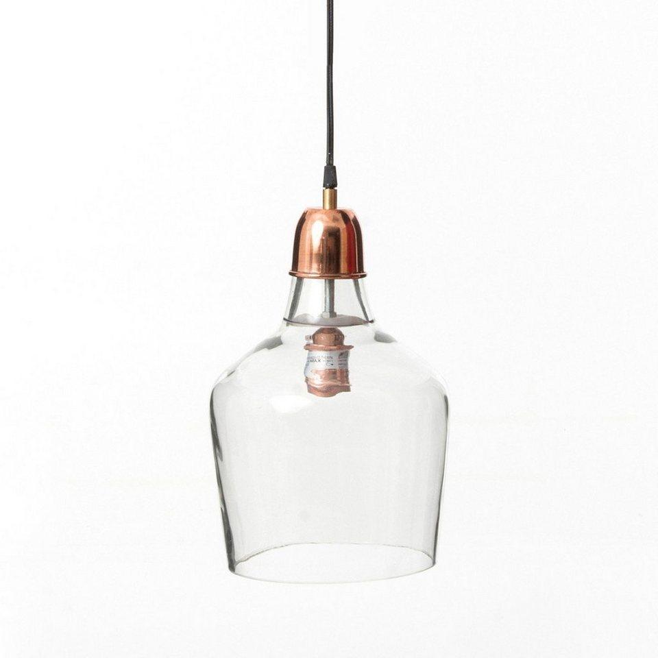kasper wohndesign h ngeleuchte aus glas und bronze inga. Black Bedroom Furniture Sets. Home Design Ideas