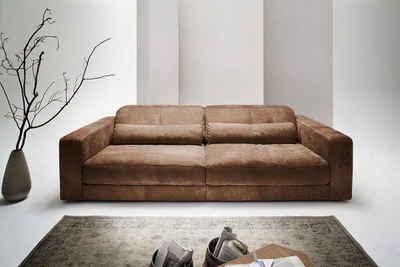 Kasper-Wohndesign Big Ledersofa 3,5 Sitzer inkl. 2 Kissen Leder Toro »GIGANT« Sale Angebote Ruhland