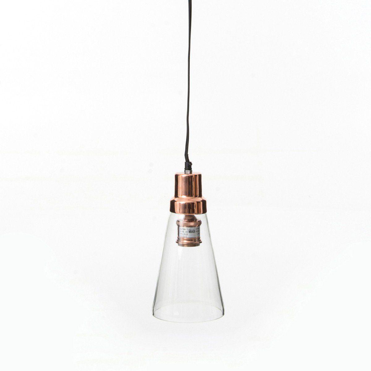 Kasper-Wohndesign Hängeleuchte aus Glas und Bronze »Tera«
