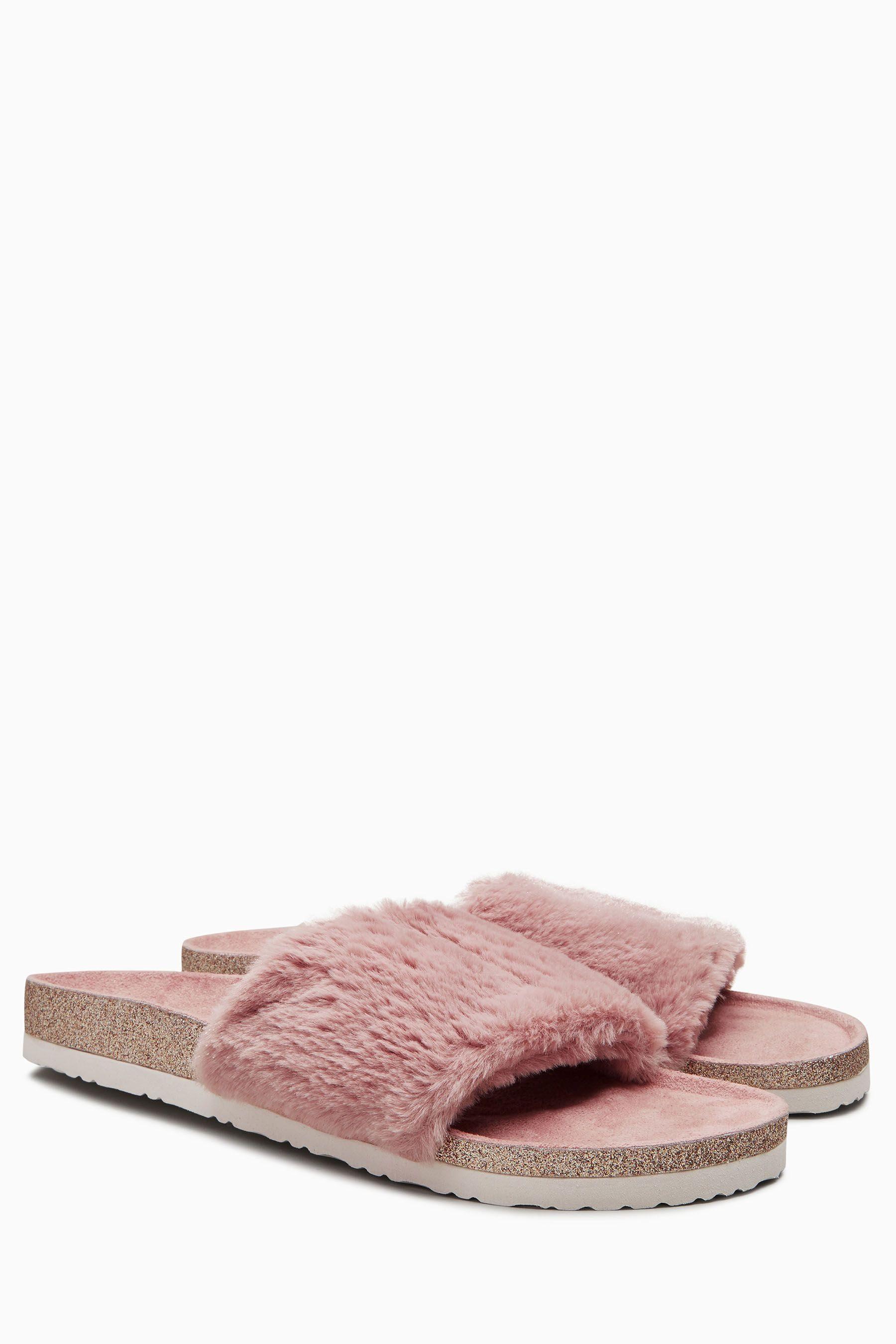 Next Flatform-Sandalen mit Strass, rot, Blush