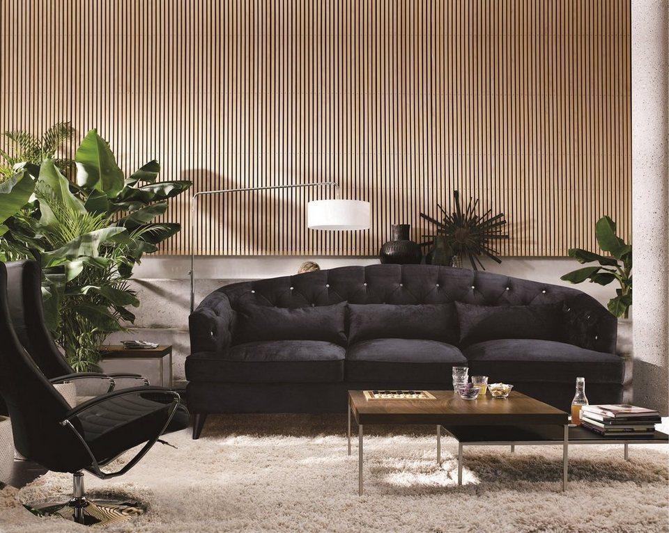 Kasper-Wohndesign Sofa Stoff anthrazit 3-Sitzer »SALON ...