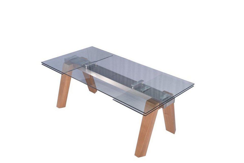 Kasper Wohndesign Esstisch Aus Glas 200 X 100 Cm Ausziehbar »MOUNTY«
