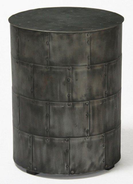 Wohnzimmertische - Kasper Wohndesign Couchtisch Beistelltisch Eisen Hocker grau »Festo«  - Onlineshop OTTO