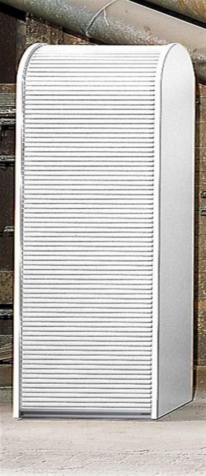Rolladenschrank weiß  MS-Schuon Rolladenschrank Aktenschrank mit 4 Fachböden ...