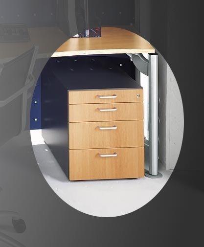 Wohndesign Online: Kasper-Wohndesign Rollcontainer Mit 4 Schubladen Buche Und