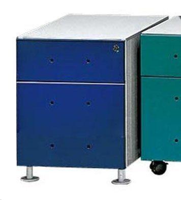 Kasper-Wohndesign Rollcontainer mit 1 Schublade und HR Ablage in blau »MIX«