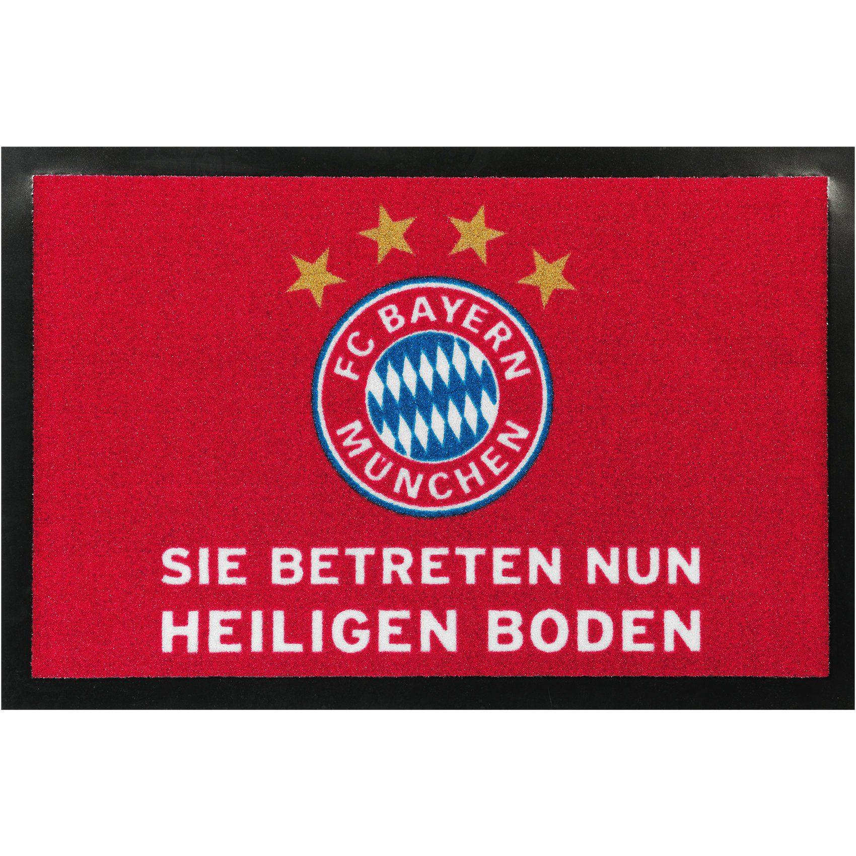 FC Bayern München Fußmatte , Heiliger Boden, rot, 40 x 60 cm