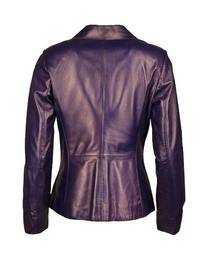 Jcc Leather Blazer With Button Closure Cameron