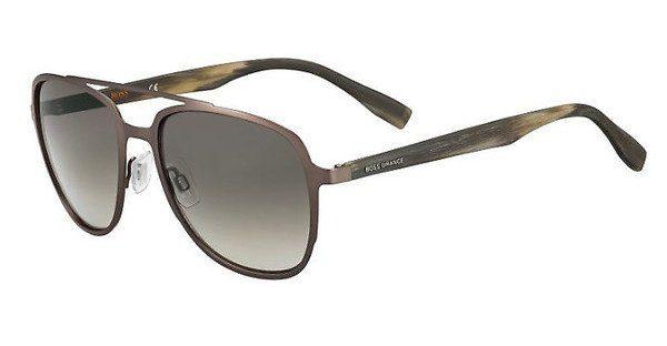 Boss Orange Herren Sonnenbrille » BO 0300/S«, braun, BU0/HA - braun/braun