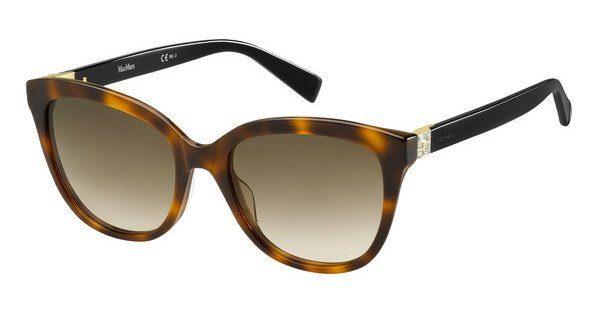 Max Mara Damen Sonnenbrille » MM TILE«, schwarz, 581/HA - schwarz/braun