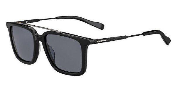 Boss Orange Herren Sonnenbrille » BO 0305/S«, schwarz, 807/IR - schwarz/grau