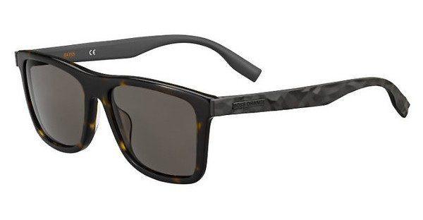 Boss Orange Herren Sonnenbrille » BO 0336/S«, braun, 086/QT - braun/grün