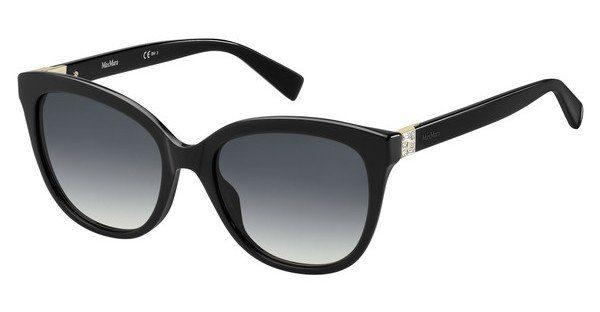 Max Mara Damen Sonnenbrille » MM TILE«, schwarz, 807/9O - schwarz/grau