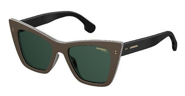 Carrera Eyewear Damen Sonnenbrille » CARRERA 1009/S«, weiß, 10A/QT - weiß/grün