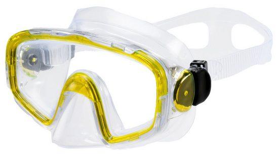 AQUAZON Taucherbrille »AQUAZON SHARK Junior Medium Schnorchelbrille, Taucherbrille, Schwimmbrille, Tauchmaske für Kinder, Jugendliche von 7-14 Jahren, Tempered Glas, sehr robust, tolle Paßform«