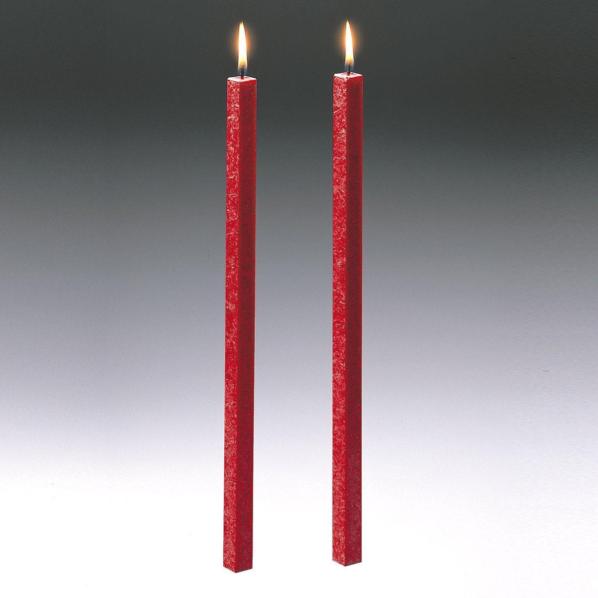 Amabiente Amabiente Kerze CLASSIC feuerrot 40cm - 2er Set