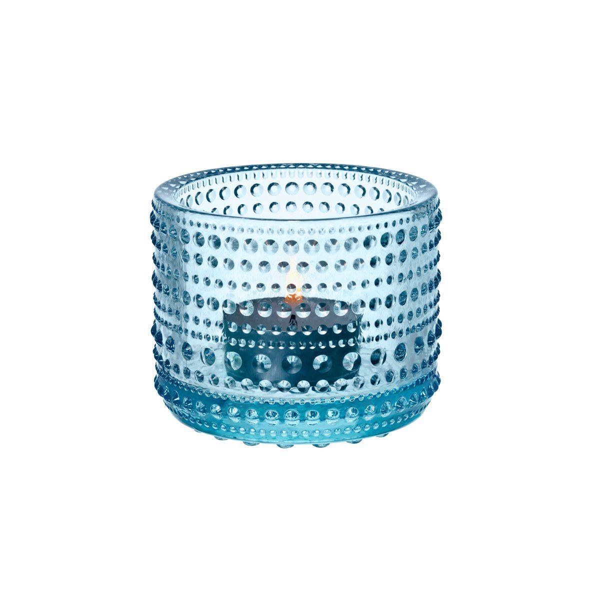 IITTALA Iittala Teelichthalter KASTEHELMI hellblau 6.4 cm