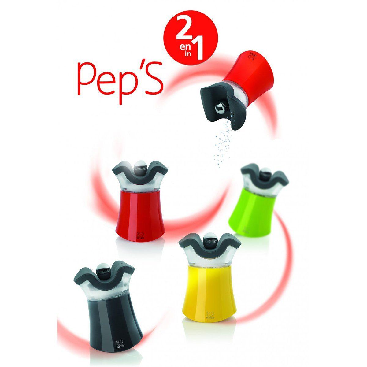 PEUGEOT Peugeot Pfeffer-Salz-Streuer PEP, 8cm rot